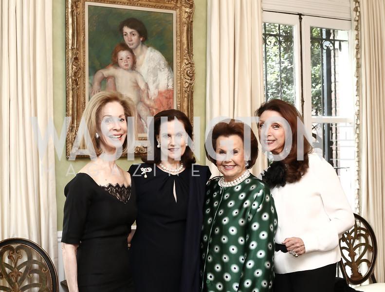 Bonnie McElveen-Hunter, Alexandra de Borchgrave, Hillie Mahoney, Aniko Gaal Schott. Photo by Tony Powell. Hillie Mahoney Book Party. April 22, 2016