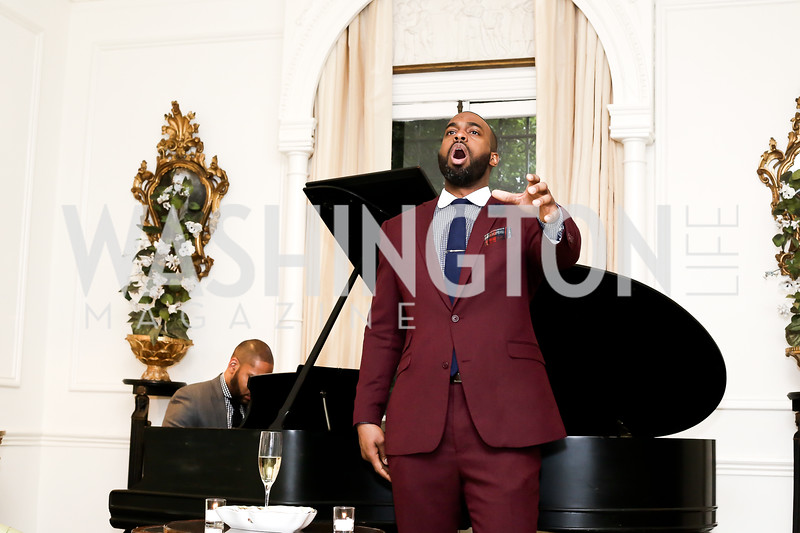 Opera Singer Solomon Howard. Photo by Tony Powell. Hillie Mahoney Book Party. April 22, 2016