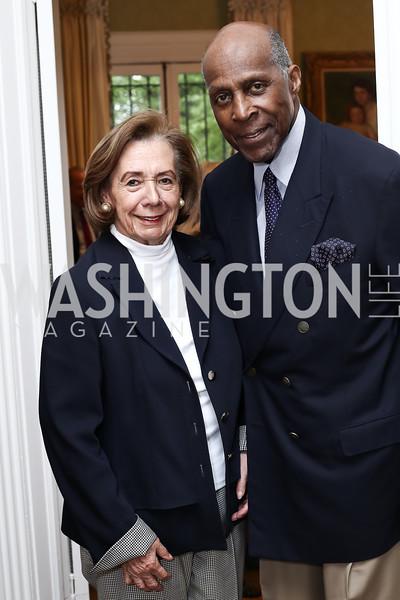 Ann Jordan, Vernon Jordan. Photo by Tony Powell. Hillie Mahoney Book Party. April 22, 2016
