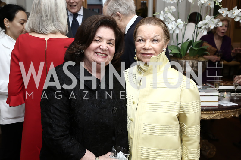 Nancy Howar, Ruthie Leffall. Photo by Tony Powell. Hillie Mahoney Book Party. April 22, 2016
