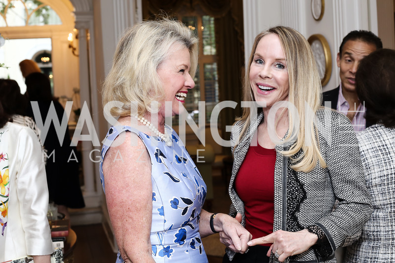 Charlotte Buxton, Cindy Jones. Photo by Tony Powell. Hillie Mahoney Book Party. April 22, 2016