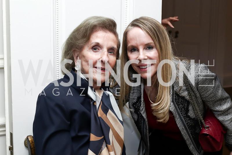 Wilhelmina Holladay, Cindy Jones. Photo by Tony Powell. Hillie Mahoney Book Party. April 22, 2016