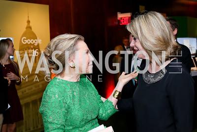 Jeanne Ruesch, Kathleen Matthews. Photo by Tony Powell. IRELAND 100 Opening Performance & Dinner. Kennedy Center. May 17, 2016