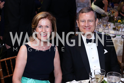 Ireland Amb. Anne Anderson, Chief Justice John Roberts. Photo by Tony Powell. IRELAND 100 Opening Performance & Dinner. Kennedy Center. May 17, 2016
