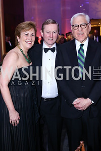KC President Deborah Rutter, Ireland Prime Minister Enda Kenny, KC Chairman David Rubenstein. Photo by Tony Powell. IRELAND 100 Opening Performance & Dinner. Kennedy Center. May 17, 2016