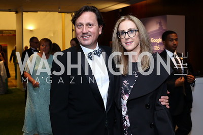 Erik and Lisa Huey. Photo by Tony Powell. IRELAND 100 Opening Performance & Dinner. Kennedy Center. May 17, 2016