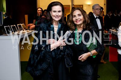 Alexandra de Borchgrave, Samia Farouki. Photo by Tony Powell. IRELAND 100 Opening Performance & Dinner. Kennedy Center. May 17, 2016