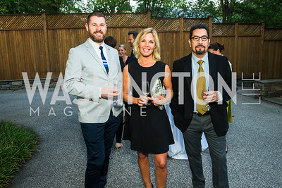 Andrew Luke, Sofie Lindahl-Jessen, J.C. Paz. Photo by Alfredo Flores. Innovating Through Business Partnerships 2016 reception. Embassy of Denmark. September 27, 2016