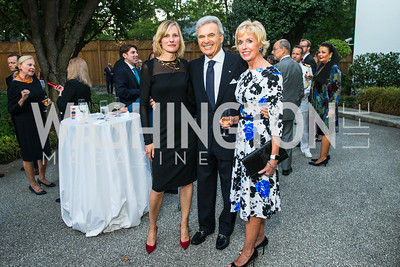 Ulla Rønberg,  Stuart Bernstein, Kathy Kemper. Photo by Alfredo Flores. Innovating Through Business Partnerships 2016 reception. Embassy of Denmark. September 27, 2016