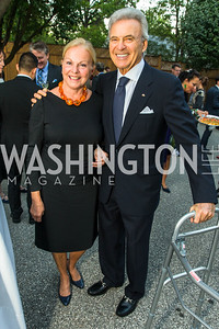 Laurie Fulton, Stuart Bernstein, . Photo by Alfredo Flores. Innovating Through Business Partnerships 2016 reception. Embassy of Denmark. September 27, 2016