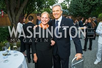 Laurie Fulton, Stuart Bernstein, . Photo by Alfredo Flores. Innovating Through Business Partnerships 2016 reception. Embassy of Denmark. September 27, 2016
