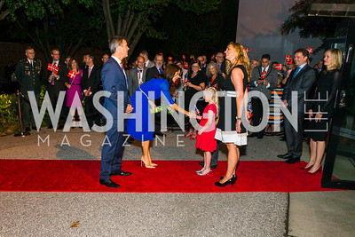 His Royal Highness Crown Prince Frederik and Her Royal Highness Crown Princess Mary. Photo by Alfredo Flores. Innovating Through Business Partnerships 2016 reception. Embassy of Denmark. September 27, 2016