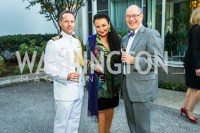 Jakob Rousoe, Rhoda Septilici, Mark Menzer . Photo by Alfredo Flores. Innovating Through Business Partnerships 2016 reception. Embassy of Denmark. September 27, 2016