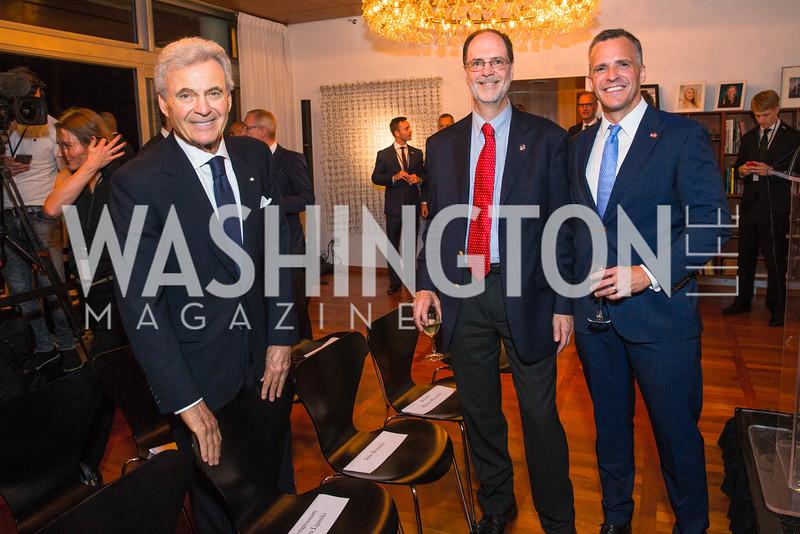 Stuart Bernstein, Stephen Brugger, Rufus Gifford. Photo by Alfredo Flores. Innovating Through Business Partnerships 2016 reception. Embassy of Denmark. September 27, 2016