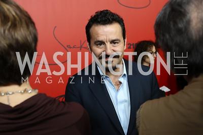 "Jack Valenti portrayer Max Casella. Photo by Tony Powell. ""Jackie"" DC Premiere Screening. Newseum. December 1, 2016"