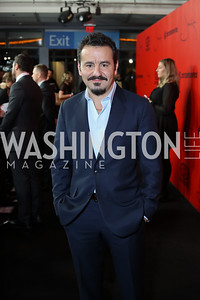 "Jack Valenti portrayer Max Casella. Photo by Tony Powell. ""Jackie"" DC Premiere Screening. Newseum. December 1, 2016"