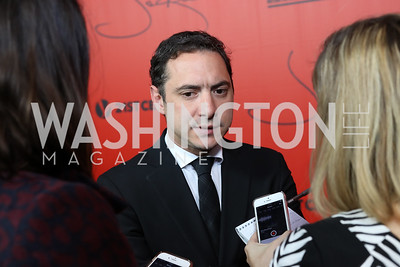 "Producer Juan de Dios Larrain. Photo by Tony Powell. ""Jackie"" DC Premiere Screening. Newseum. December 1, 2016"