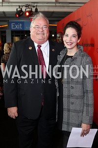 "Rep. Billy Long and daughter Kelle Long. Photo by Tony Powell. ""Jackie"" DC Premiere Screening. Newseum. December 1, 2016"