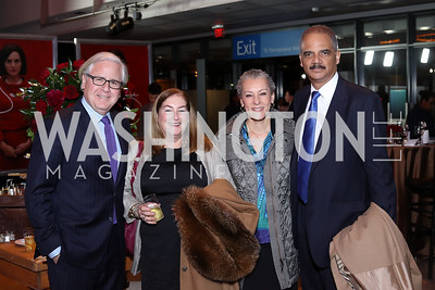 "Howard Fineman, Amy Nathan, Sharon Malone and former Attorney General Eric Holder. Photo by Tony Powell. ""Jackie"" DC Premiere Screening. Newseum. December 1, 2016"