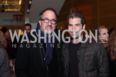 "Michael Schlow, Brian Friedman. Photo by Tony Powell. ""Jackie"" DC Premiere Screening. Newseum. December 1, 2016"