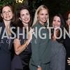 Ludmila Cafritz, Gwen Holliday, Sharon Bradley, Barbara Martin, Jayne Sandman. Photo by Tony Powell. Jill Kargman Book Party. Haft Residence. September 15, 2016