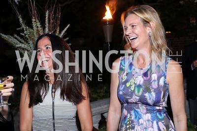 Molly Elkin, Katharine Weymouth. Photo by Tony Powell. Jill Kargman Book Party. Haft Residence. September 15, 2016