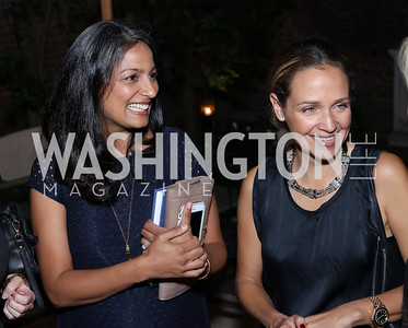 Kay Mukherjee, Luisana Mendoza. Photo by Tony Powell. Jill Kargman Book Party. Haft Residence. September 15, 2016