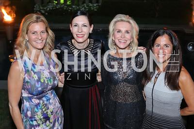 Katharine Weymouth, Jill Kargman, Mary Haft, Molly Elkin. Photo by Tony Powell. Jill Kargman Book Party. Haft Residence. September 15, 2016