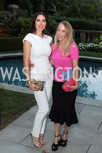 Amy Baier, Cindy Jones. Photo by Tony Powell. Jill Kargman Book Party. Haft Residence. September 15, 2016
