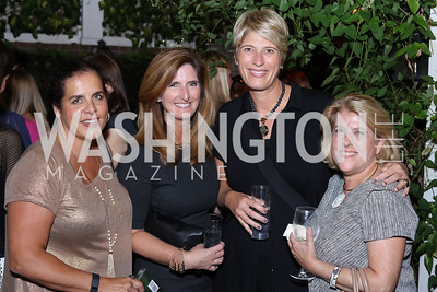 Marissa Rauch, Leslie Archer, Mimi Strouse, Susan Scott. Photo by Tony Powell. Jill Kargman Book Party. Haft Residence. September 15, 2016