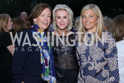 Ginger Pape, Mary Haft, Sissy Yates. Photo by Tony Powell. Jill Kargman Book Party. Haft Residence. September 15, 2016