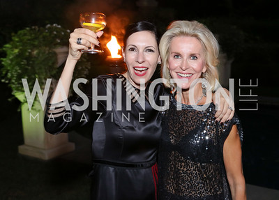 Jill Kargman, Mary Haft. Photo by Tony Powell. Jill Kargman Book Party. Haft Residence. September 15, 2016
