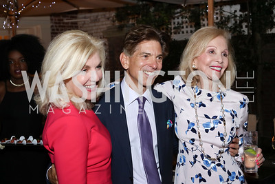 Lisa Brandt Beek, Robert Haft, Evelyn Brandt. Photo by Tony Powell. Jill Kargman Book Party. Haft Residence. September 15, 2016