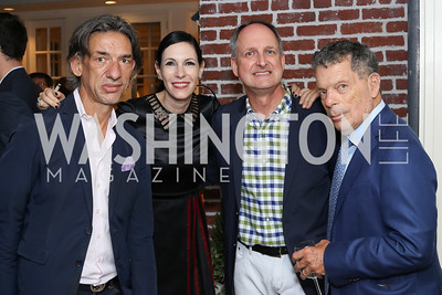 Septime Webre, Jill Kargman, Patrick Baugh, Conrad Cafritz. Photo by Tony Powell. Jill Kargman Book Party. Haft Residence. September 15, 2016