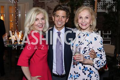 Lisa Brandt Beek, Robert Haft, Evelyn Brandt. Photo by Tony Powell. Jill Kargman Book Party. Haft Residence. September 15, 2016