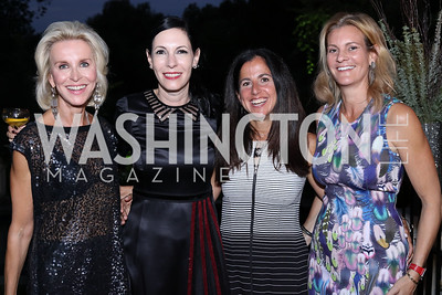Mary Haft, Jill Kargman, Molly Elkin, Katharine Weymouth. Photo by Tony Powell. Jill Kargman Book Party. Haft Residence. September 15, 2016