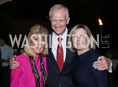 Ginny Grenham, Jack Evans, Connie Carter. Photo by Tony Powell. Jill Kargman Book Party. Haft Residence. September 15, 2016