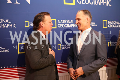 "Actors Joel Murray and Patrick St. Esprit. Photo by Tony Powell. ""Killing Reagan"" Premiere Screening. Newseum. October 6, 2016"
