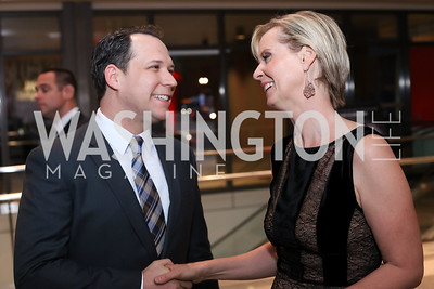 "Actors Dustin Lewis and Cynthia Nixon. Photo by Tony Powell. ""Killing Reagan"" Premiere Screening. Newseum. October 6, 2016"