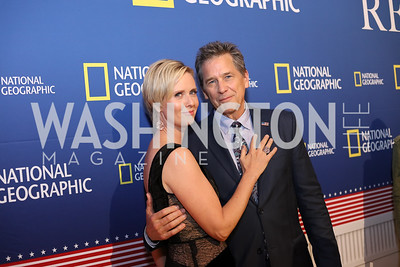 "Actors Cynthia Nixon and Tim Matheson. Photo by Tony Powell. ""Killing Reagan"" Premiere Screening. Newseum. October 6, 2016"