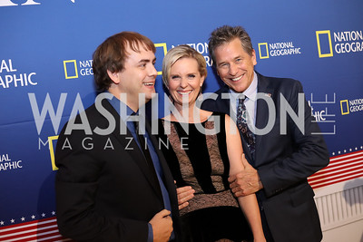 "Actors Kyle S. More, Cynthia Nixon, and Tim Matheson. Photo by Tony Powell. ""Killing Reagan"" Premiere Screening. Newseum. October 6, 2016"