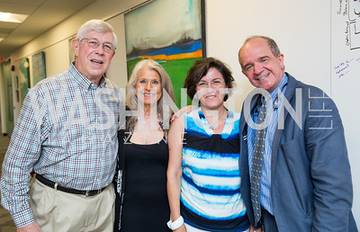Joseph DiGangi, Barbara Hawthorn, Marta Franchetti, Italian Embassy Cultural Attaché Renato Miracco. Photo by Erin Schaff. Open House Featuring Artwork by Laura Gunn. Higher Logic. August 25, 2016.