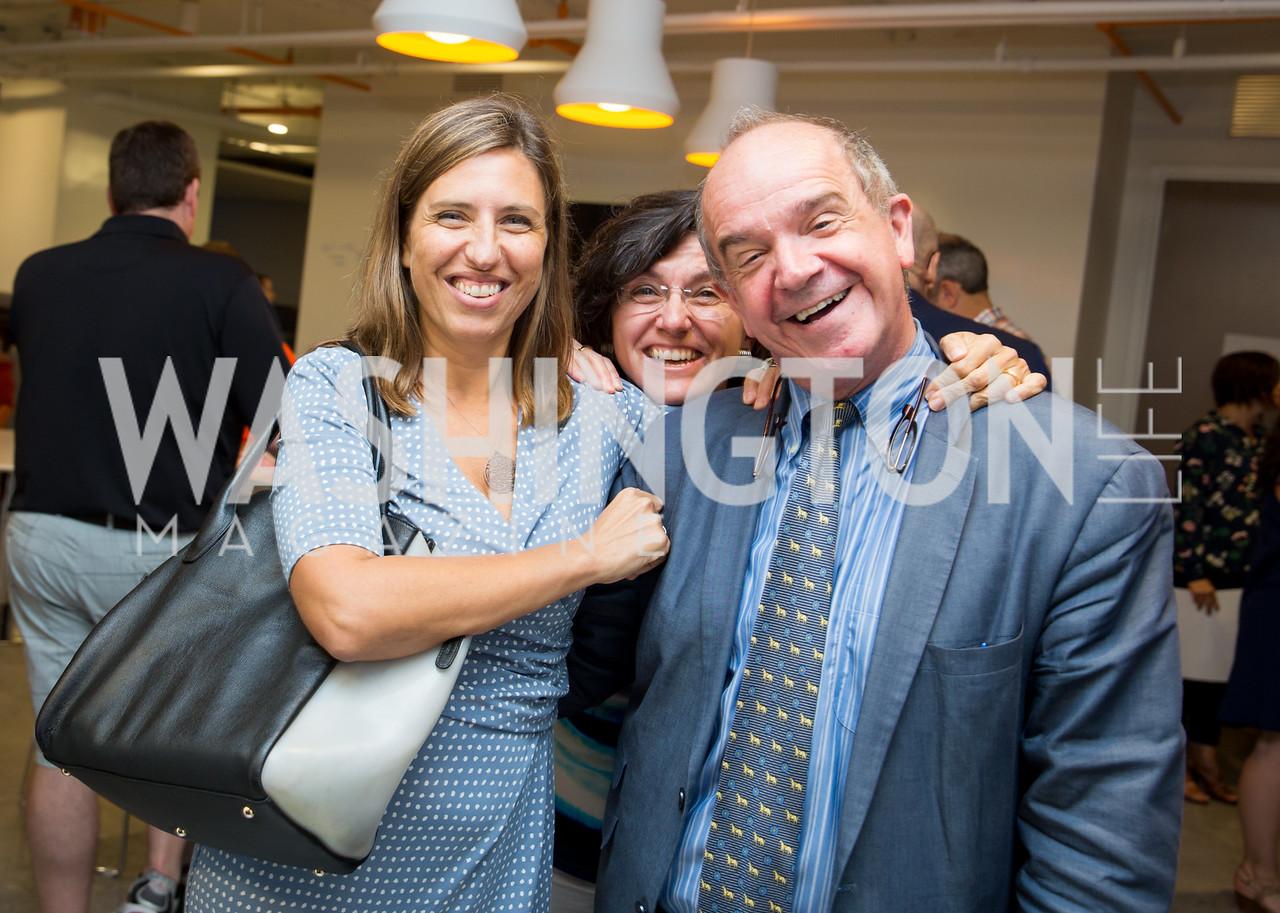 Irene Castagnoli, Marta Franchetti, Italian Embassy Cultural Attaché Renato Miracco. Photo by Erin Schaff. Open House Featuring Artwork by Laura Gunn. Higher Logic. August 25, 2016.