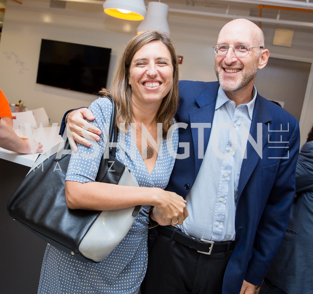 Irene Castagnoli, Deputy Chief of Mission for the Italian Embassy Luca Franchetti Pardo. Photo by Erin Schaff. Open House Featuring Artwork by Laura Gunn. Higher Logic. August 25, 2016.