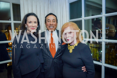 Marjorie Furman, Smokey Robinson, Buffy Cafritz , Smokey Robinson Honored with Gershwin Award, Library of Congress Dinner, November 15, 2016, photo by Ben Droz,