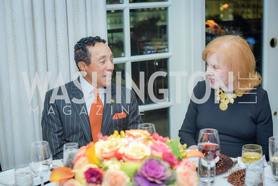Smokey Robinson, Buffy Cafritz, Smokey Robinson Honored with Gershwin Award, Library of Congress Dinner, November 15, 2016, photo by Ben Droz,