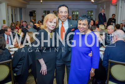 Buffy Cafritz, Smokey Robinson, Dr. Carla Hayden, Smokey Robinson Honored with Gershwin Award, Library of Congress Dinner, November 15, 2016, photo by Ben Droz,