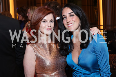Maureen Dowd, Catherine Trifiletti. Photo by Tony Powell. MGM National Harbor Grand Opening. December 8, 2016