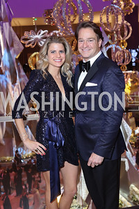 Callie and Brad Nierenberg. Photo by Tony Powell. MGM National Harbor Grand Opening. December 8, 2016