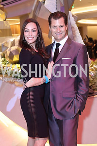 Kristin and John Cecchi. Photo by Tony Powell. MGM National Harbor Grand Opening. December 8, 2016